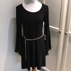 MSK dress with tone good chain belt